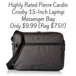 Pierre Cardin Crosby 15-Inch Laptop Messenger Bag $9.99