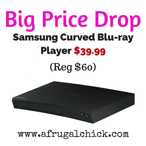 Samsung Curved Blu-ray Player $39.99