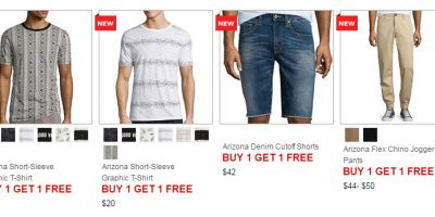jcpenney buy one get one free sale