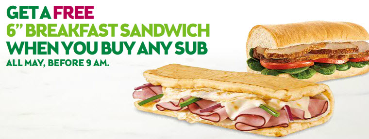subway free sandwich