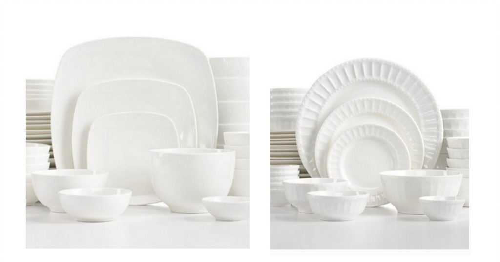 white elements dish set