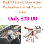 Black & Decker Cyclonic-Action Pivoting-Nose Handheld Vacuum Cleaner