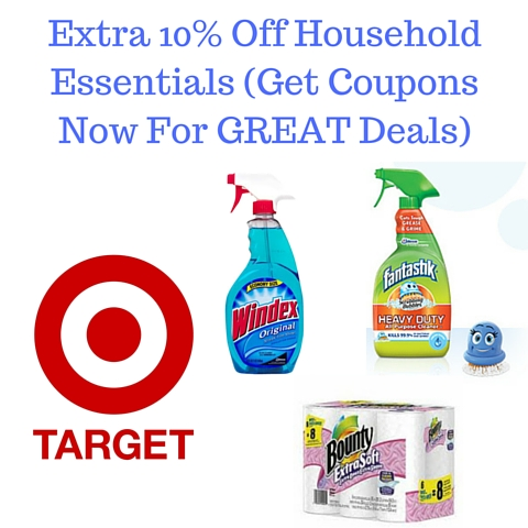 Extra 10% Off Household Essentials (Get Coupons Now For GREAT Deals)