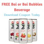 FREE Bai or Bai Bubbles Beverage