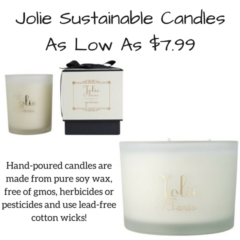 Jolie Sustainable Candles As Low As $9.99