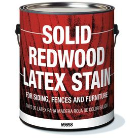Olympic Solid Redwood Latex Stain Redwood Solid Exterior Stain
