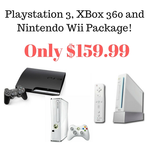 Playstation 3, XBox 360 and Nintendo Wii Package!