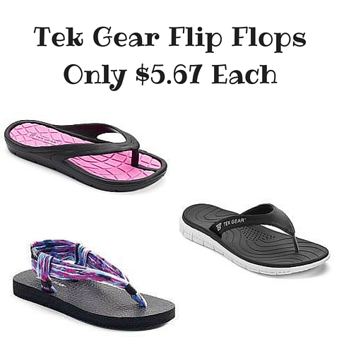 Kohl S Tek Gear Flip Flops Only 5 67 Each