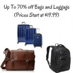 Up To 70% off Bags and Luggage (Prices Start at $19.99)
