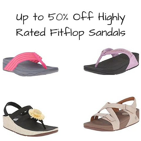 70d1d349f Amazon  Up to 50% Off Highly Rated Fitflop Sandals