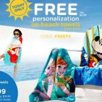 disney personalized beach towels