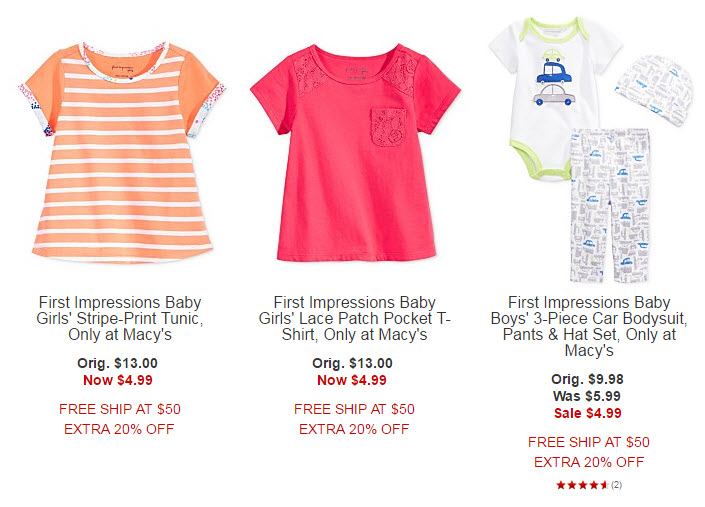 Macy Baby Kids Clothing Plus Additional