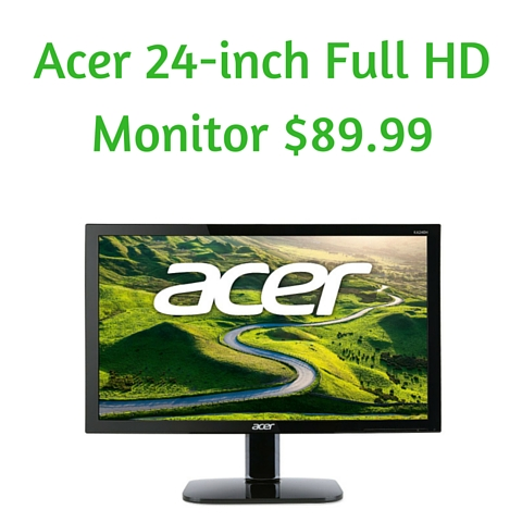 Acer 24-inch Full HD Monitor $89.99