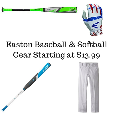 Easton Baseball & Softball Gear Starting at $13.99
