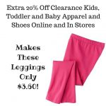 Extra 20% Off Clearance Kids, Toddler and Baby Apparel and Shoes Online and In Stores