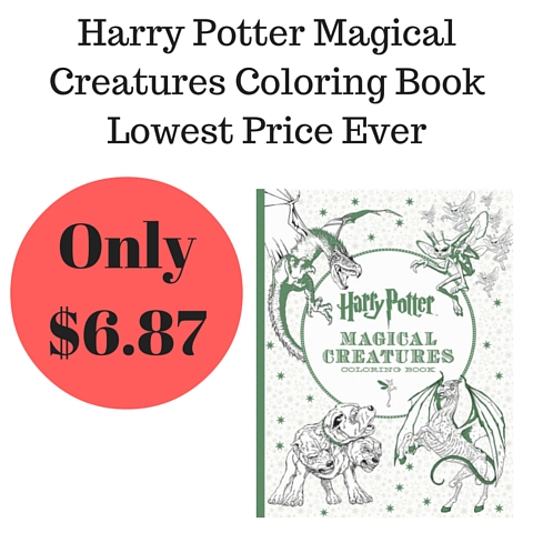 Amazon Adult Coloring Book Harry Potter Magical Creatures Only 687
