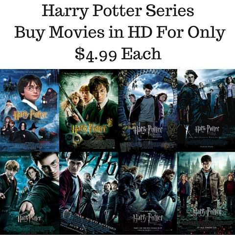 Harry Potter Series Buy Movies in HD For Only $4.99 Each