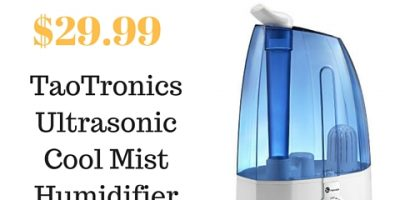Highly Rated TaoTronics 30W Ultrasonic Humidifier with Cool Mist Only $29.99