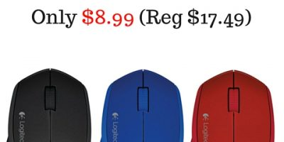 Logitech Wireless Mouse (Various Colors) Only $8.99 (Normally $17.50!)