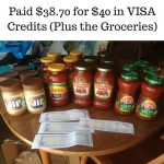 Paid $38.70 for $40 in VISA Credits (Plus the Groceries)