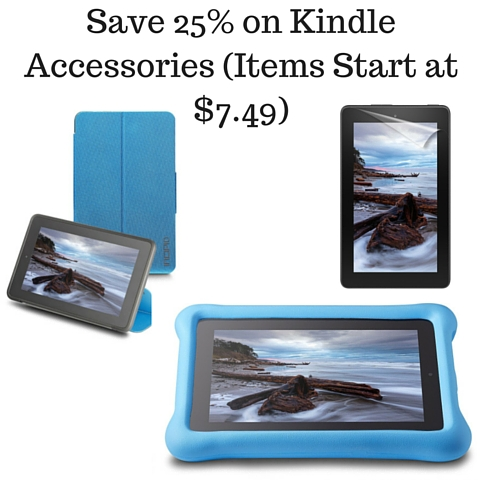 Save 25% on Kindle Accessories (Items Start at $7.49)