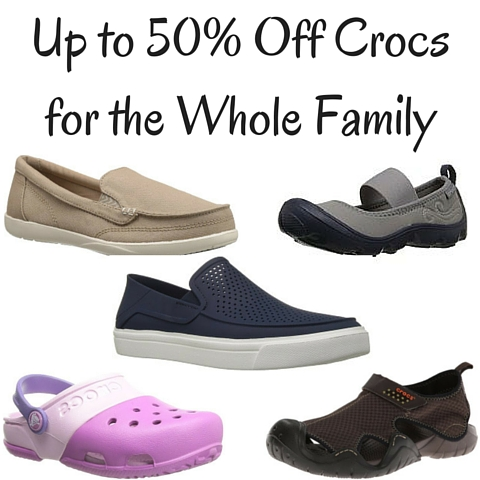 Up to 50% Off Crocs for the Whole Family