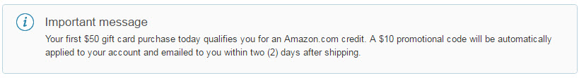 amazon gift card 10 credit