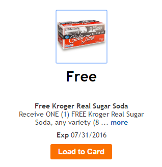 free kroger real soda