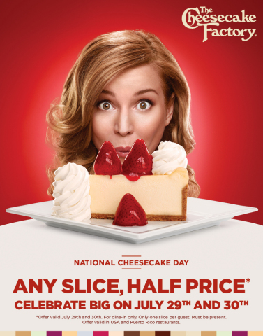 half price cheesecake day