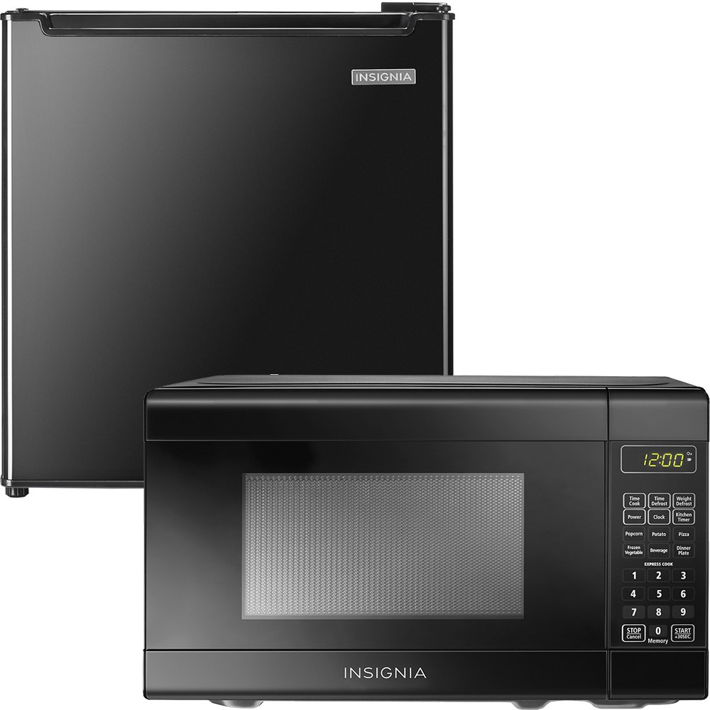 insignia microwave and fridge