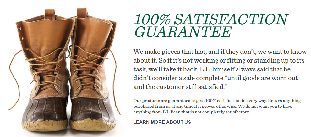 ll bean warranty