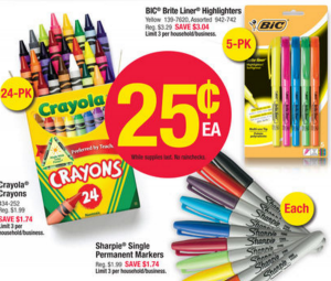 Office Depot Crayons