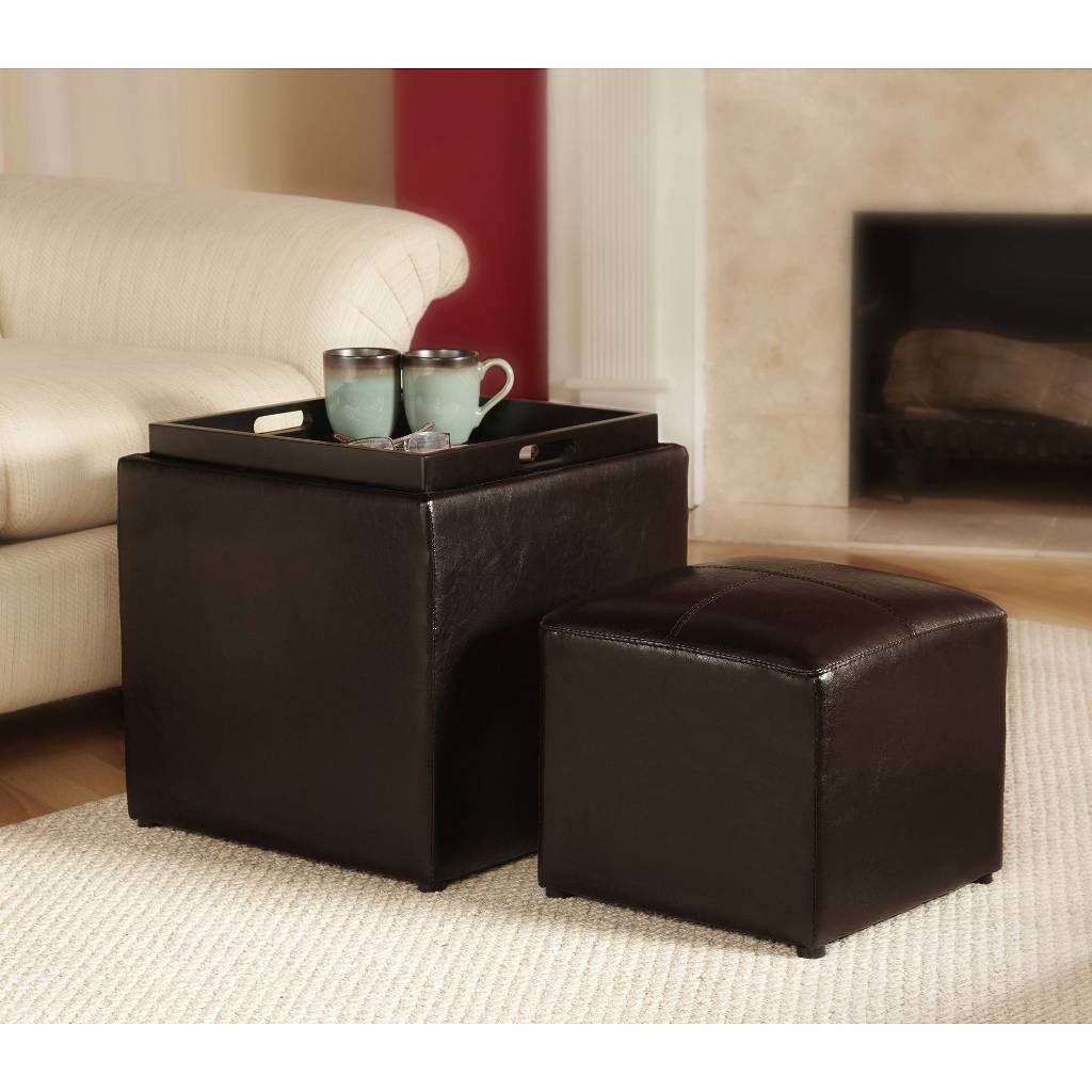 Target 3 Piece Sheridan Faux Leather Storage Ottoman With