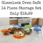 Glasslock Oven Safe 14 Piece Storage Set $18.99Add subheading