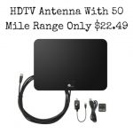 HDTV Antenna- 50 Mile Range with Detachable Amplifier & 10 Foot Cable Only $22.49g