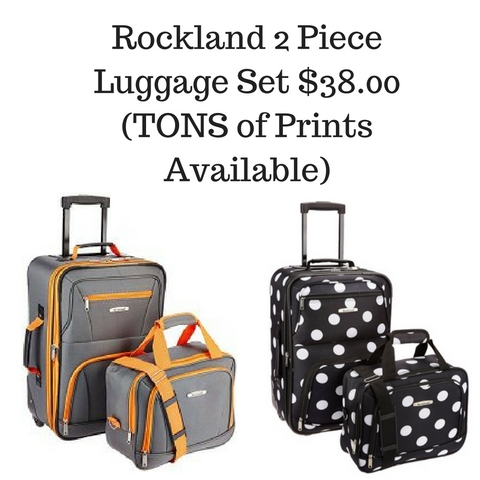 Rockland 2 Piece Luggage Set $38.00 (TONS of Prints Available)