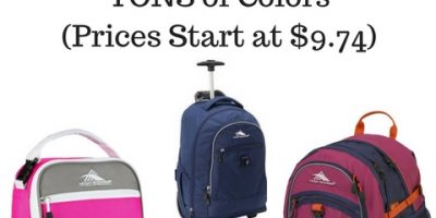 Save Big on High Sierra Lunch Bags & Back Packs (Prices Start at $9.74)