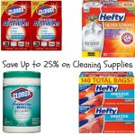Save Up to 25% on Cleaning Supplies