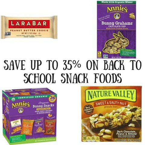 Save Up to 35% on Back to School Snack Foods