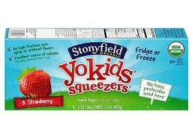 Stonyfield Yokids Strawberry Squeezers, 8ct