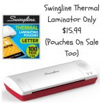 Swingline Thermal Laminator Only $15.99 (Pouches On Sale Too)
