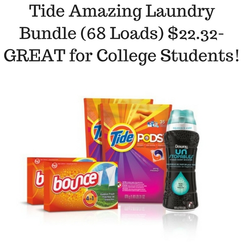 Tide Amazing Laundry Bundle (68 Loads) $22.32- GREAT for College Students!