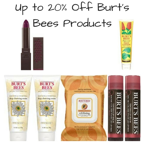 Up to 20% Off Burt's Bees Products