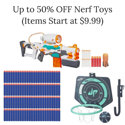 Up to 50% OFF Nerf Toys (Items Start at $9.99)