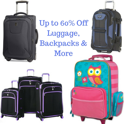 Up to 60% Off Luggage, Backpacks & MoreAdd subheading
