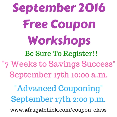 Upcoming Free Coupon Workshops (1)