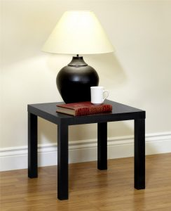 black end table