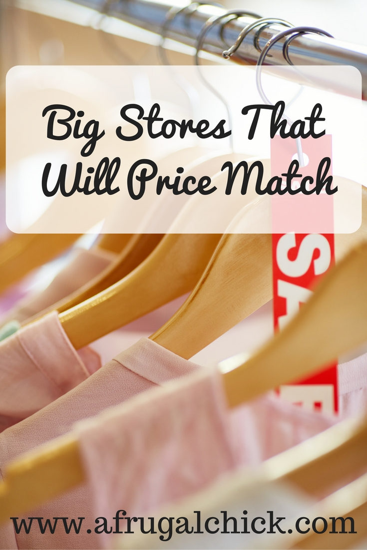 Big Stores That Price Match