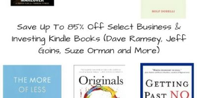Save Up To 85% Off Select Business & Investing Kindle Books (Dave Ramsey, Jeff Goins, Suze Orman and More)