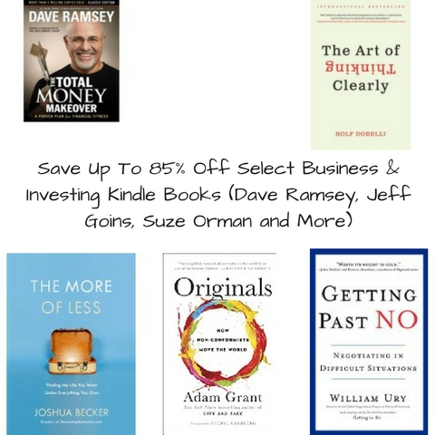 Save Up To 85 Off Select Business Investing Kindle Books Dave Ramsey
